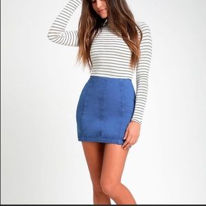 NWT Free People 'modern femme' denim mini skirt.